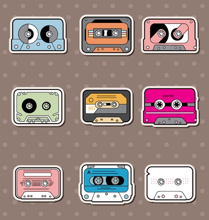 cassette tape: music Tapes stickers