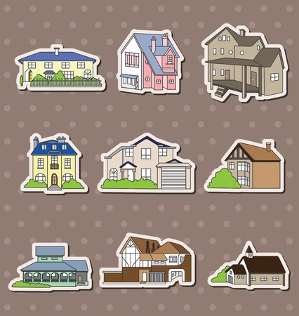 lighthearted: house stickers