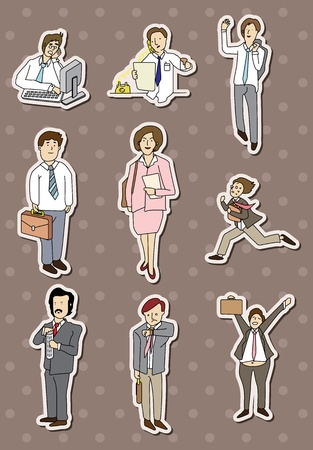 office people stickers  Vector