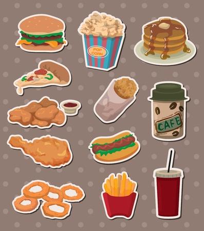 fast food stickers 일러스트