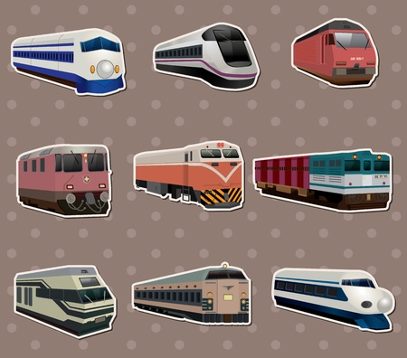 diesel train: train stickers Illustration