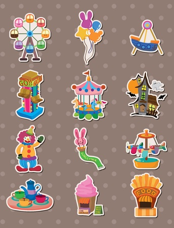 roller coaster: cartoon Playground stickers Illustration