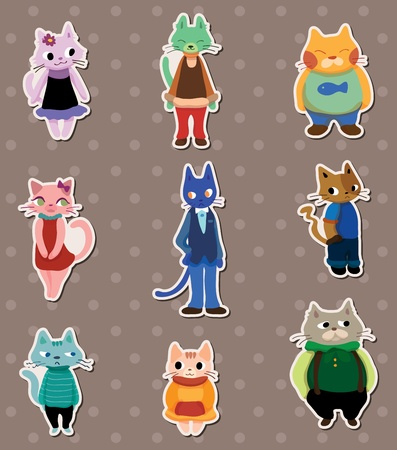 pussy hair: cat stickers Illustration