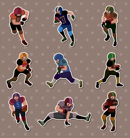 football player stickers Imagens - 13586800
