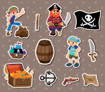 pirate stickers Stock Vector - 13586694