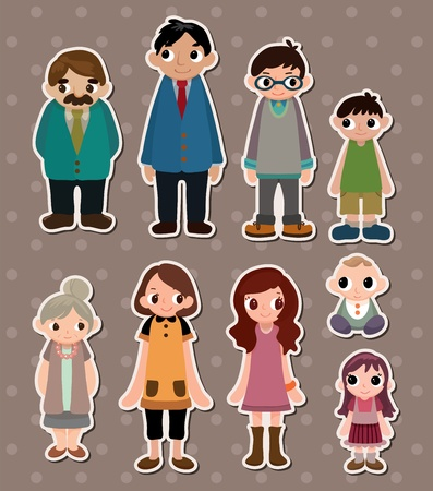 family stickers Stock Vector - 13586698