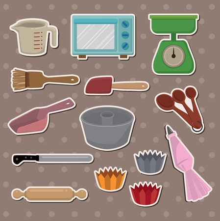 baking stickers Vector