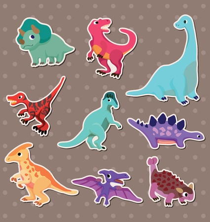dinosaur stickers  Vector