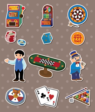 casino stickers Stock Vector - 13586801