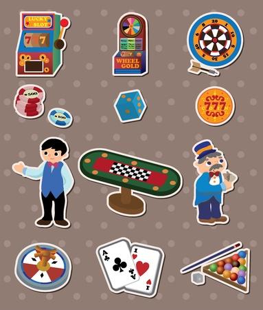 lucky man: casino stickers