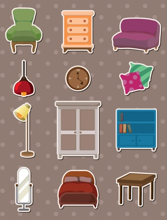 aberdeen: cartoon furniture stickers