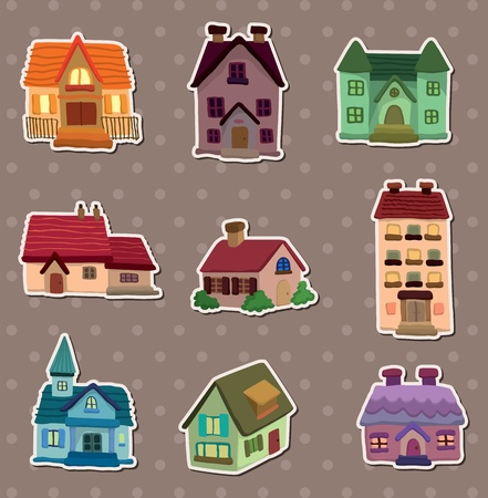 house stickers Stock Vector - 13586805