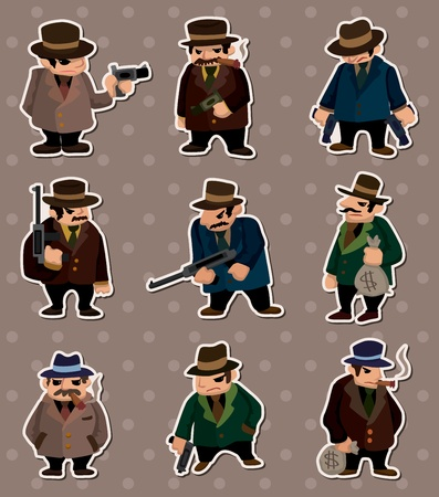 mafia stickers Vector