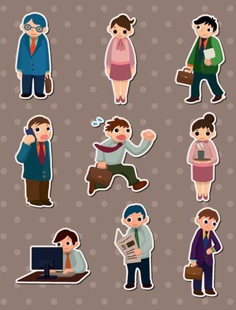 office people stickers  Ilustracja
