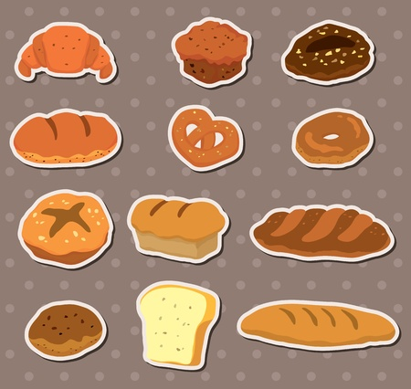 toasted bread: bread stickers Illustration