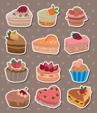 cake stickers Stock Vector - 13586778