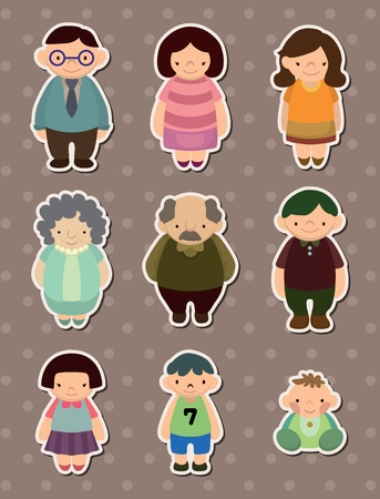 family stickers Stock Vector - 13586759