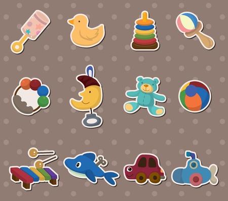 sticker vector: baby toy stickers