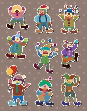 clown stickers Stock Vector - 13586758