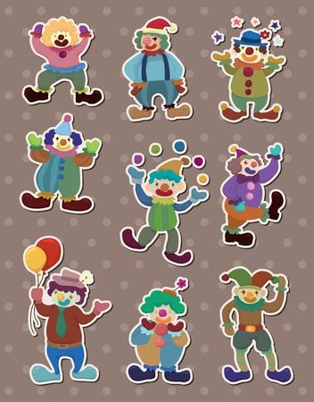 clown stickers Stock Vector - 13586758