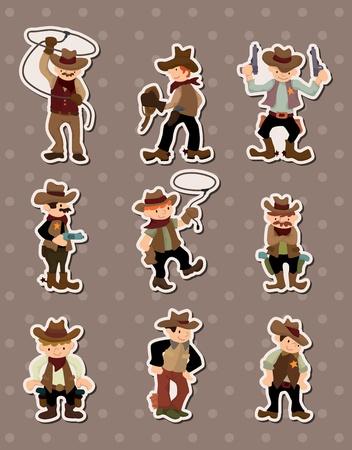 cartoon cowboy stickers
