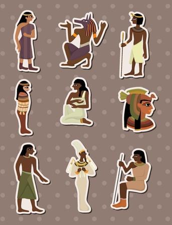sticker vector: cartoon pharaoh stickers Illustration