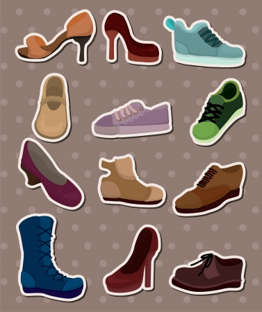 shoes stickers Vector