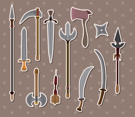fencing sword: weapon stickers