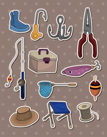 fishing stickers Stock Vector - 13654918