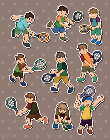 tennis stickers Vector