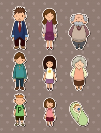 sons and grandsons: family stickers Illustration