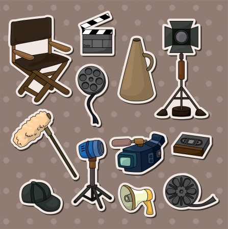 movie tool stickers Vector