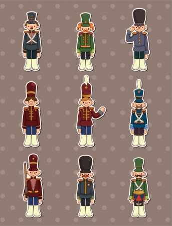 cartoon Toy soldiers stickers Stock Vector - 13706295
