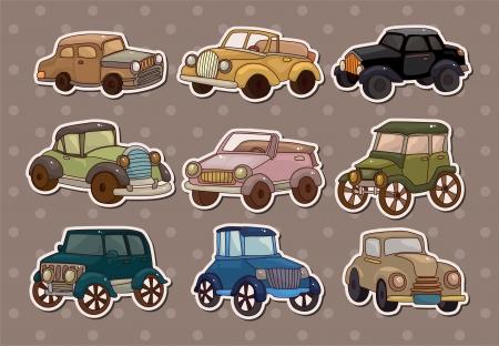 retro car stickers Vector