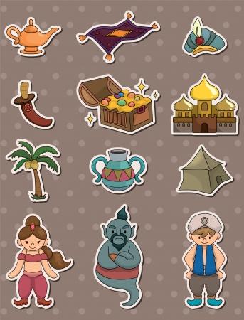 cartoon Lamp of Aladdin Stock Vector - 13706297