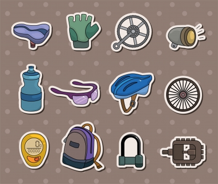bike tool stickers Vector