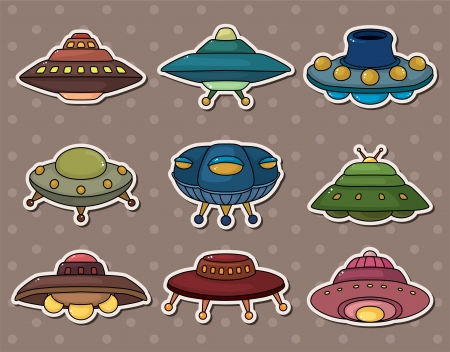 ufo stickers Stock Vector - 13766925