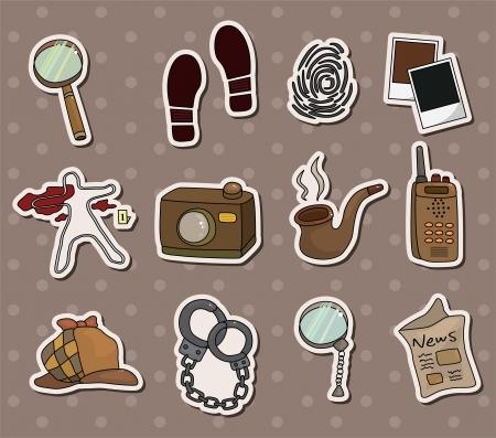 reasoning: Cartoon detective equipment stickers