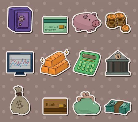 cartoon Finance & Money stickers Stock Vector - 13766927