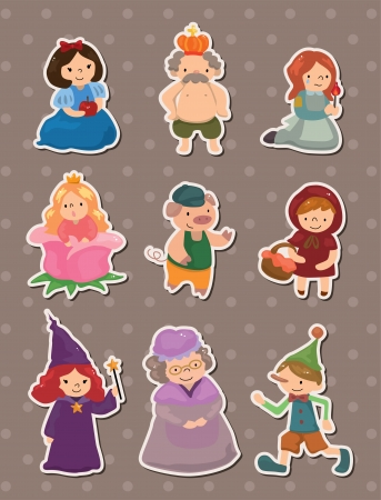 pinocchio: story people stickers Illustration