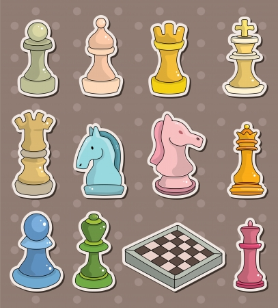 chess stickers Stock Vector - 13766920