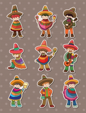 mexican boy: Mexican people stickers