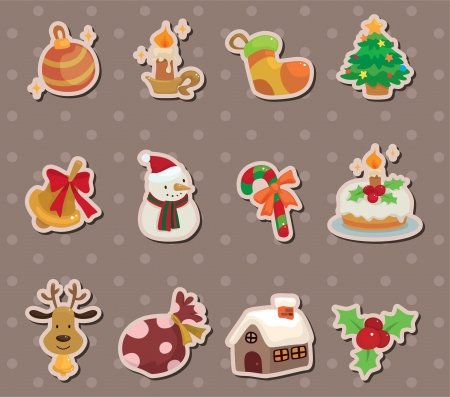 xmas element stickers Vector