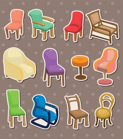 chair stickers Vector