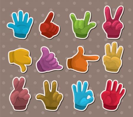 hand glove: finger stickers
