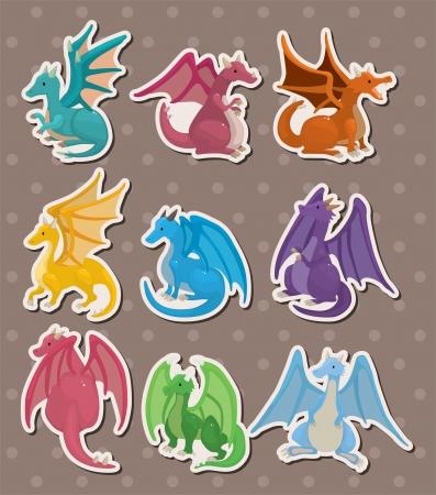 dragon tribal: incendie autocollants de dragon