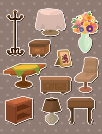 furniture stickers Stock Vector - 13885588