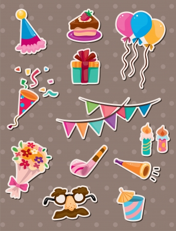 birthday stickers Stock Vector - 13885592