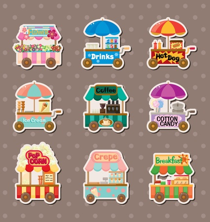 algodon de azucar: vendedores pegatinas
