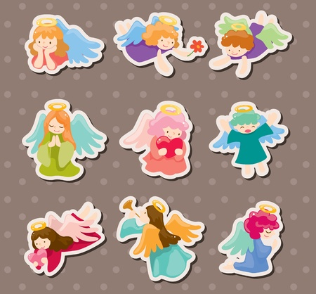 angel stickers Stock Vector - 13964769